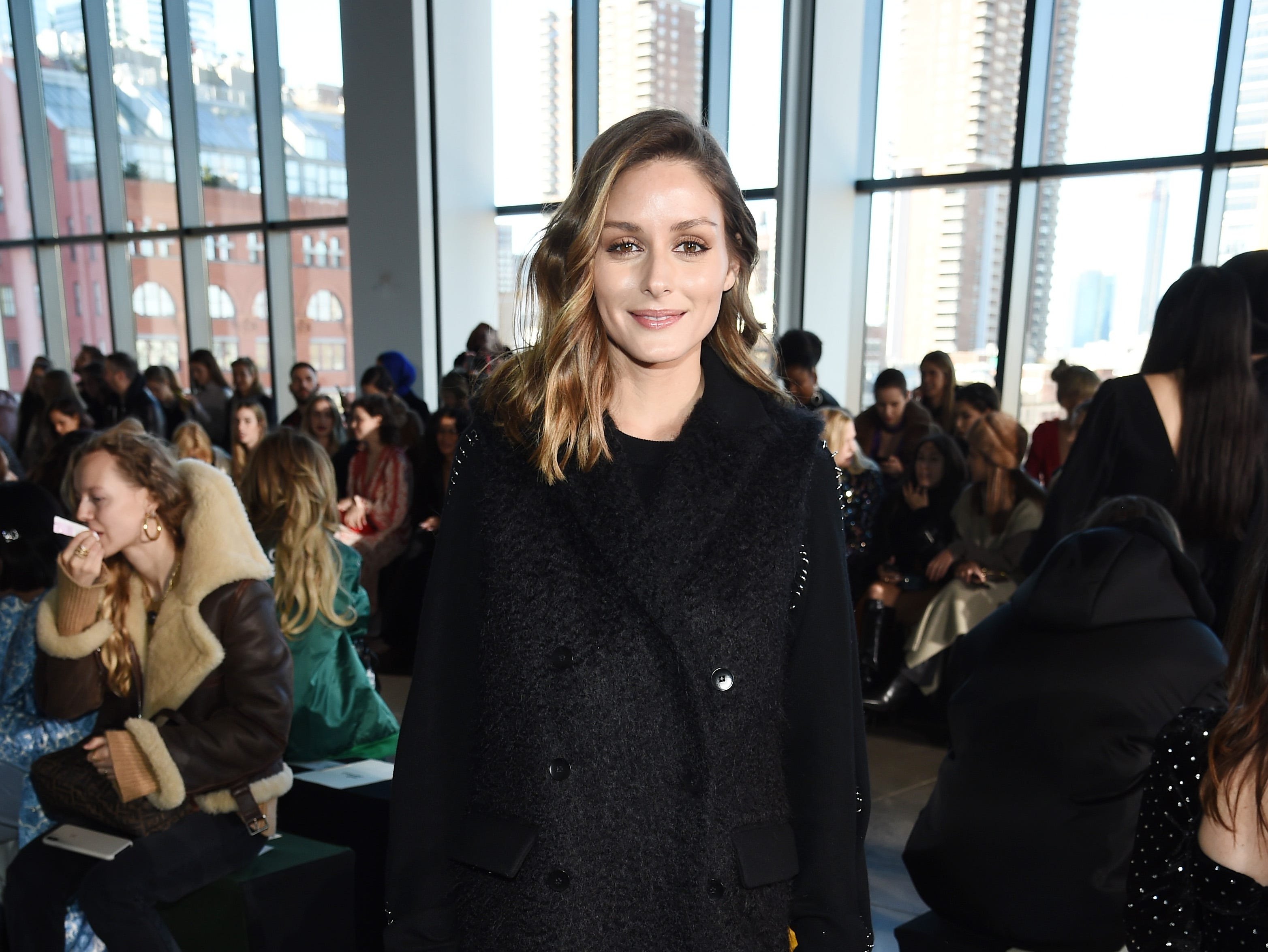 NEW YORK, NY - FEBRUARY 09: Olivia Palermo attends the Self-Portrait front row during New York Fashion Week: The Shows at Gallery I at Spring Studios on February 9, 2019 in New York City.  (Photo by Dimitrios Kambouris/Getty Images for NYFW: The Shows) ORG XMIT: 775290796 ORIG FILE ID: 1096556654