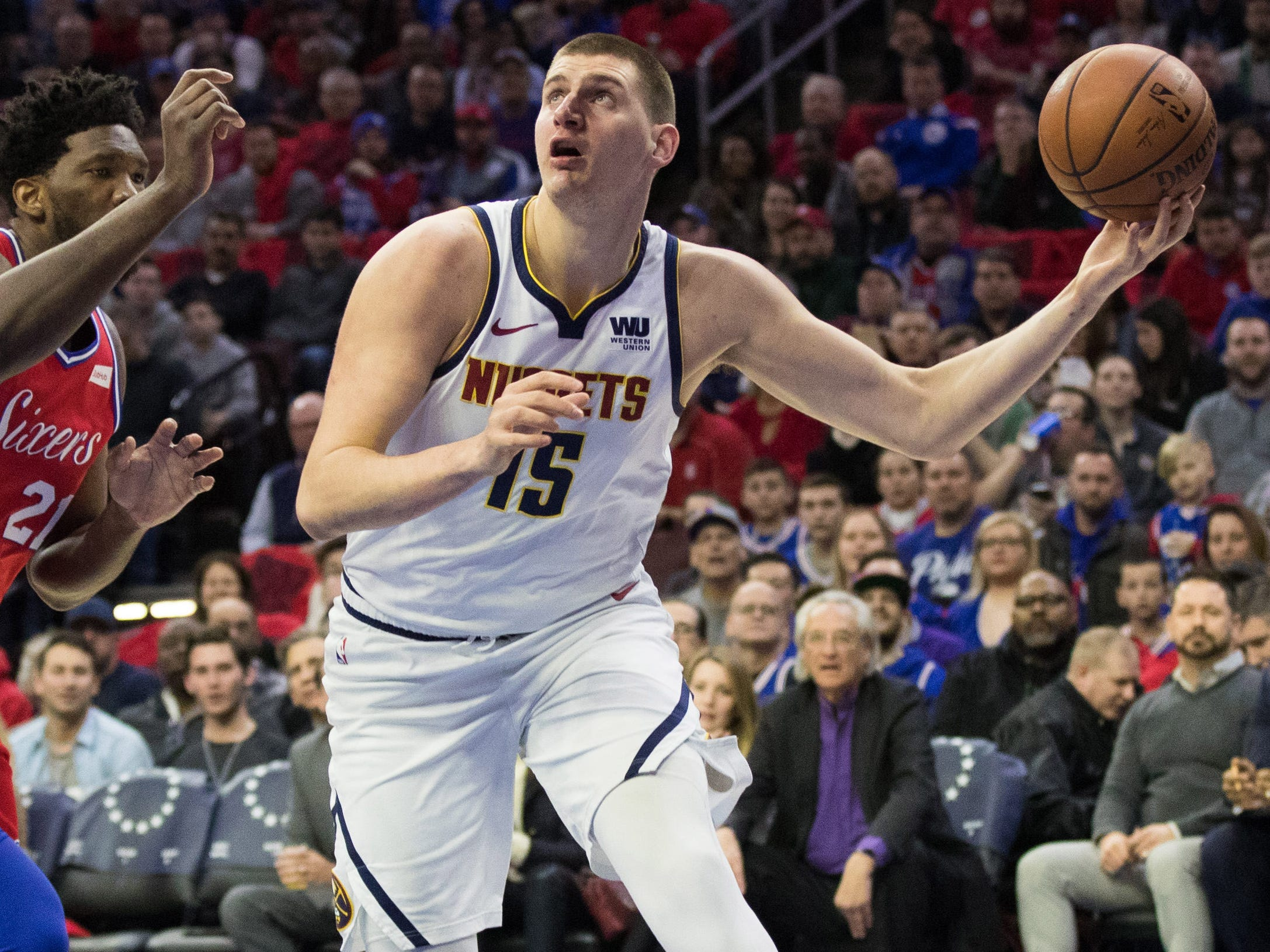 78. Nikola Jokic, Nuggets(Feb. 8): 27 points, 10 rebounds, 10 assists in 117-110 loss to 76ers (11th of season).