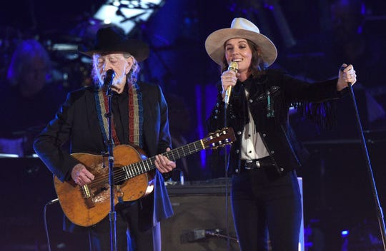 "Willie Nelson and Brandi Carlile perform ""It's All Wrong, But It's All Right."""
