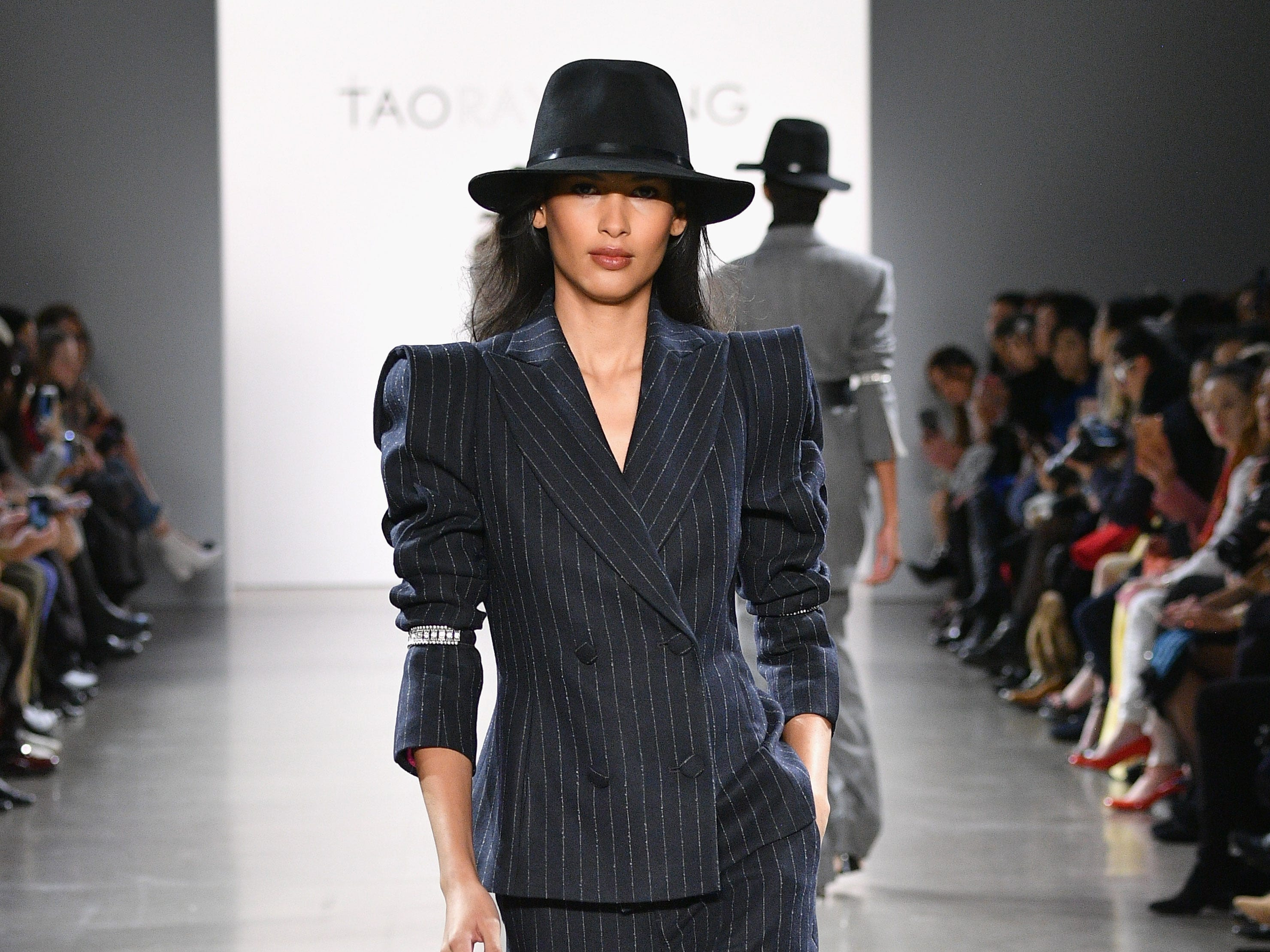 NEW YORK, NY - FEBRUARY 09:  A model walks the runway for the Taoray Wang fashion show during New York Fashion Week: The Shows at Gallery II at Spring Studios on February 9, 2019 in New York City.  (Photo by Dia Dipasupil/Getty Images for Taoray Wang) ORG XMIT: 775290801 ORIG FILE ID: 1096566422