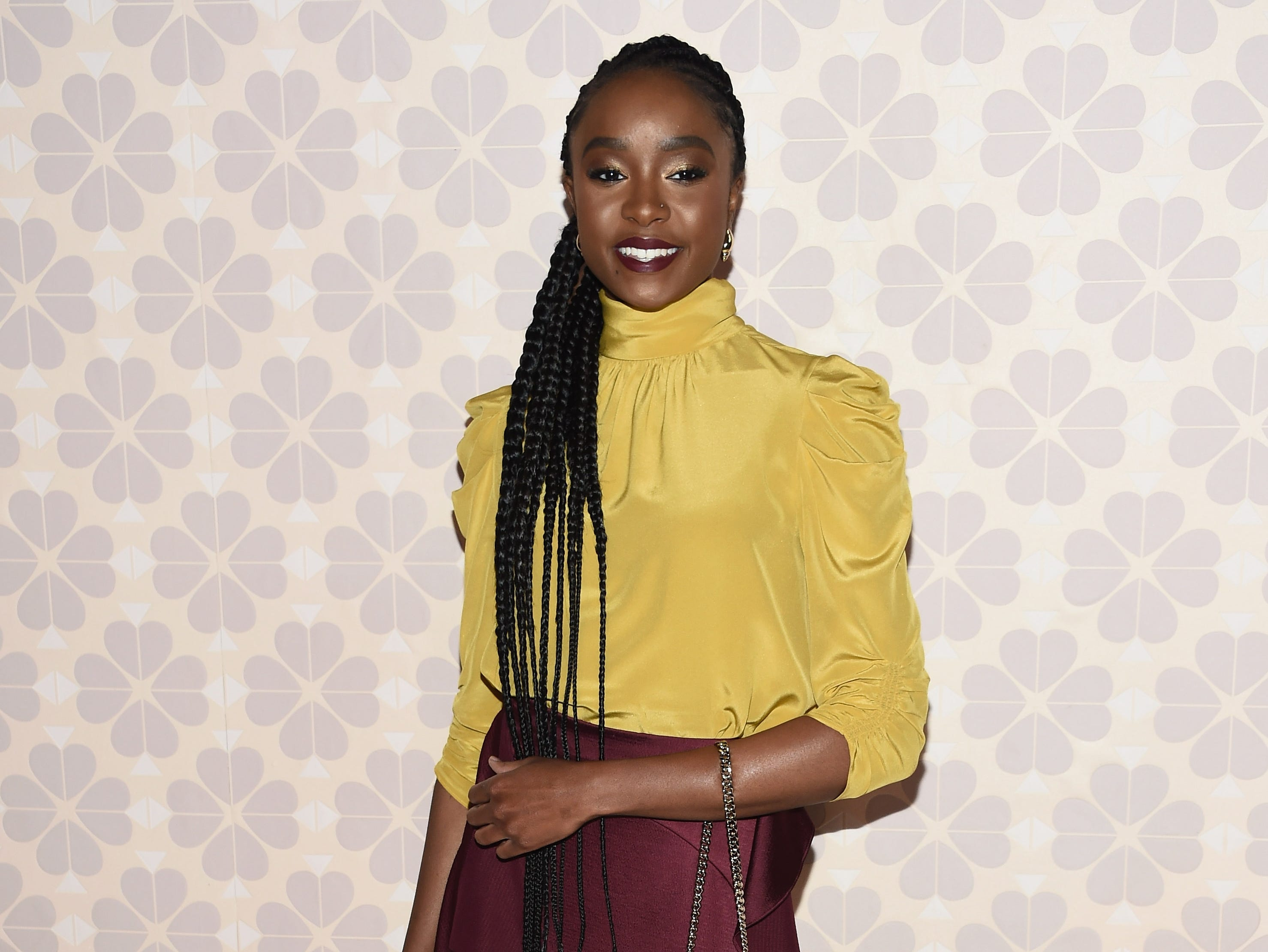 NEW YORK, NY - FEBRUARY 08:  Kiki Layne attends the Kate Spade Fashion Show during New York Fashion Week at Cipriani 25 Broadway on February 8, 2019 in New York City.  (Photo by Dimitrios Kambouris/Getty Images) ORG XMIT: 775289363 ORIG FILE ID: 1095649206