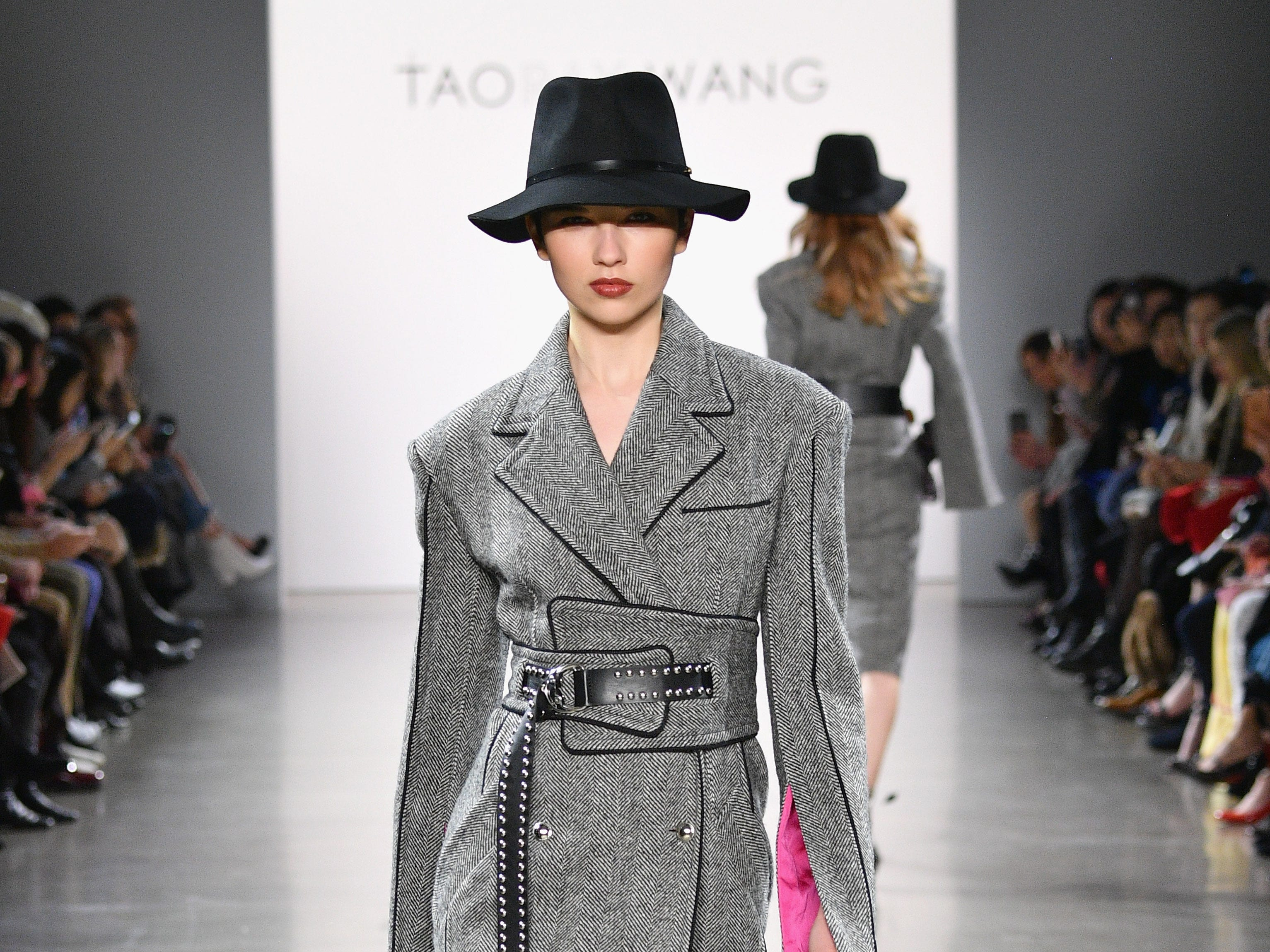 NEW YORK, NY - FEBRUARY 09:  A model walks the runway for the Taoray Wang fashion show during New York Fashion Week: The Shows at Gallery II at Spring Studios on February 9, 2019 in New York City.  (Photo by Dia Dipasupil/Getty Images for Taoray Wang) ORG XMIT: 775290801 ORIG FILE ID: 1096566414