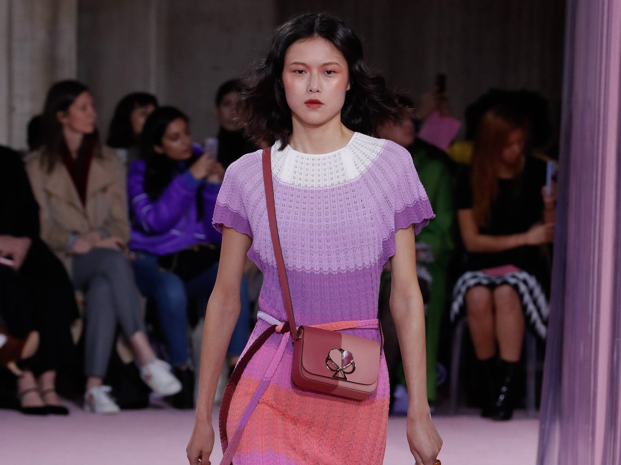NEW YORK, NY - FEBRUARY 08:  A model walks the runway at the Kate Spade AW19 Collection at Cipriani 25 Broadway on February 8, 2019 in New York City.  (Photo by JP Yim/Getty Images for TRESemme) ORG XMIT: 775289365 ORIG FILE ID: 1095662894