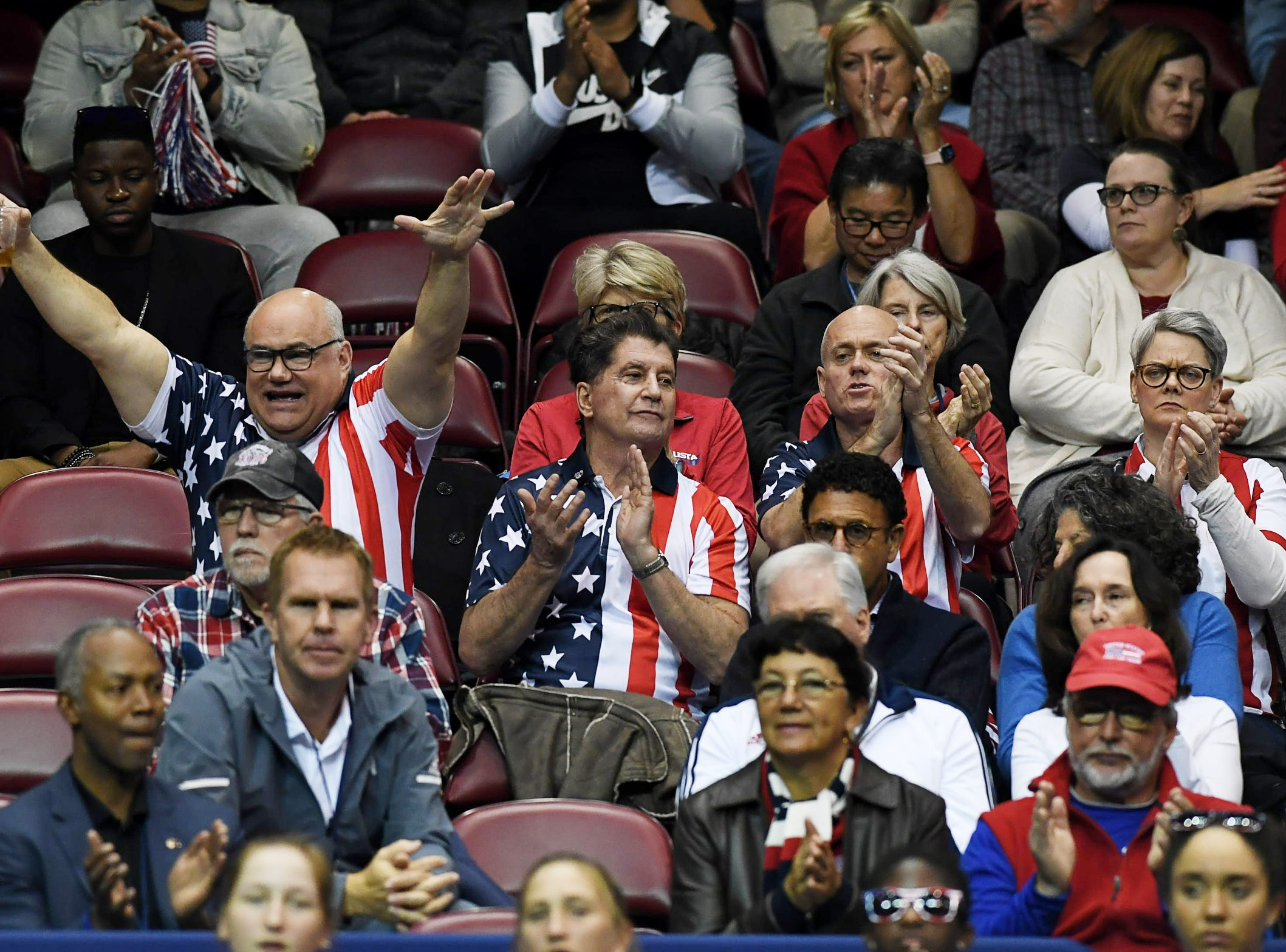 Scenes from the first day of Fed Cup competition between the US and Australia at the US Cellular Center Feb. 9, 2019.