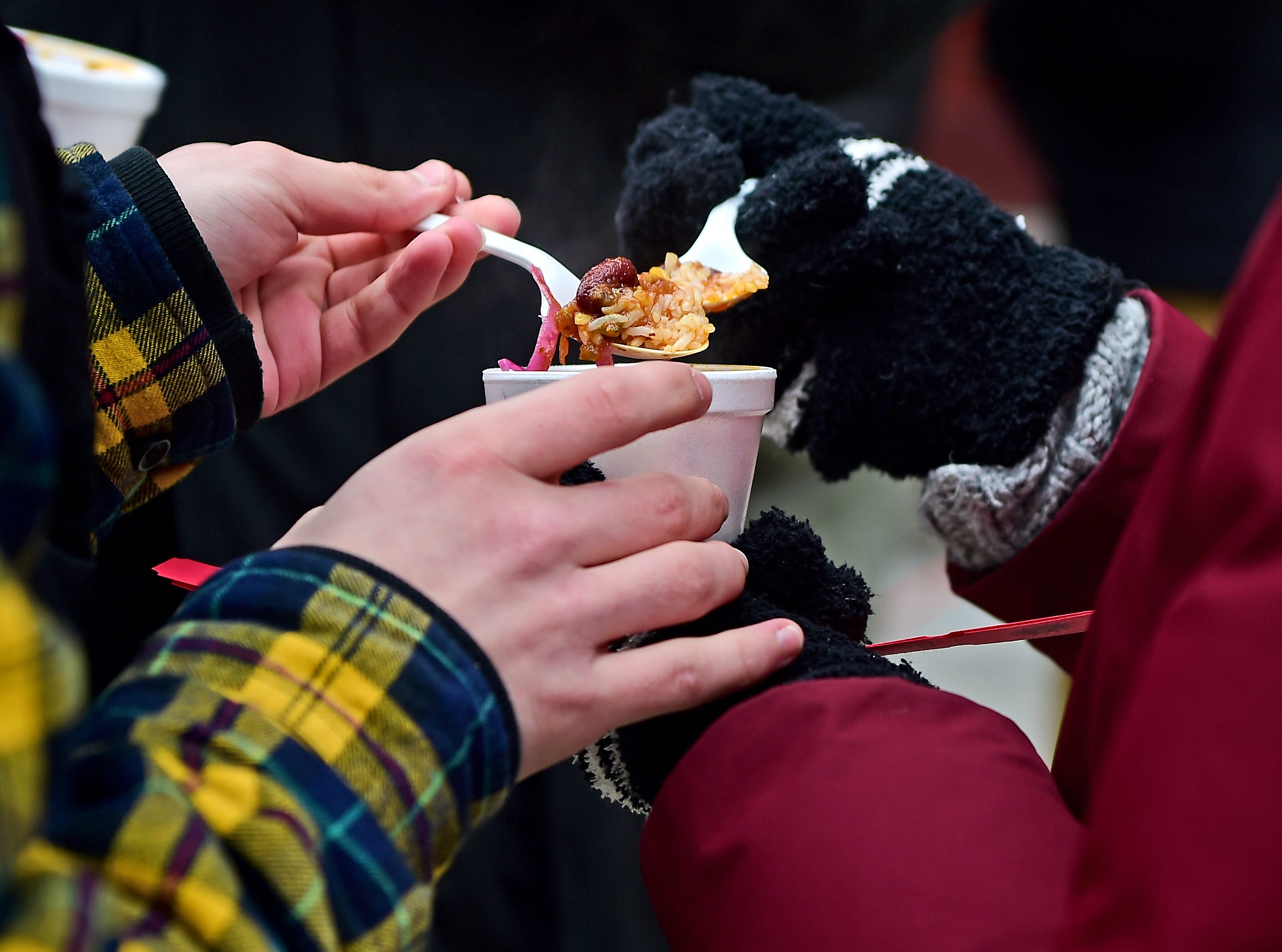The 21st Annual Downtown Ithaca Chili Cook-off was held on the Ithaca Commons on Saturday. The event featured unique meat, vegetarian and vegan chilis made by local restaurants. February 8, 2019.