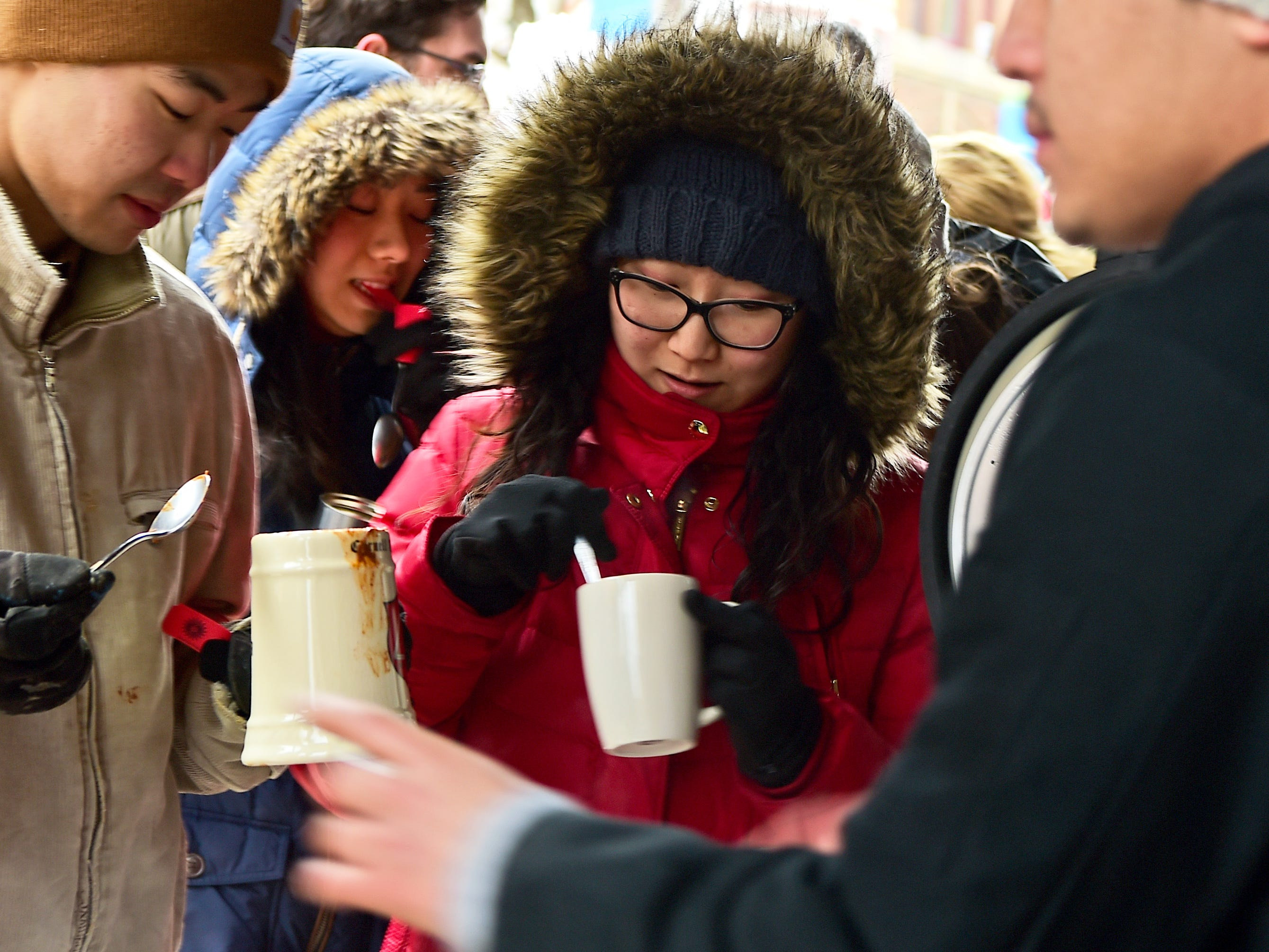 The 21st Annual Downtown Ithaca Chili Cook-off was held on the Ithaca Commons on Saturday, February 8, 2019.