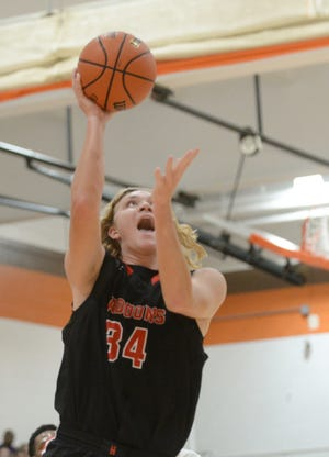 Haddonfield's Dylan Heine takes the ball to the hoop during a game earlier this season.