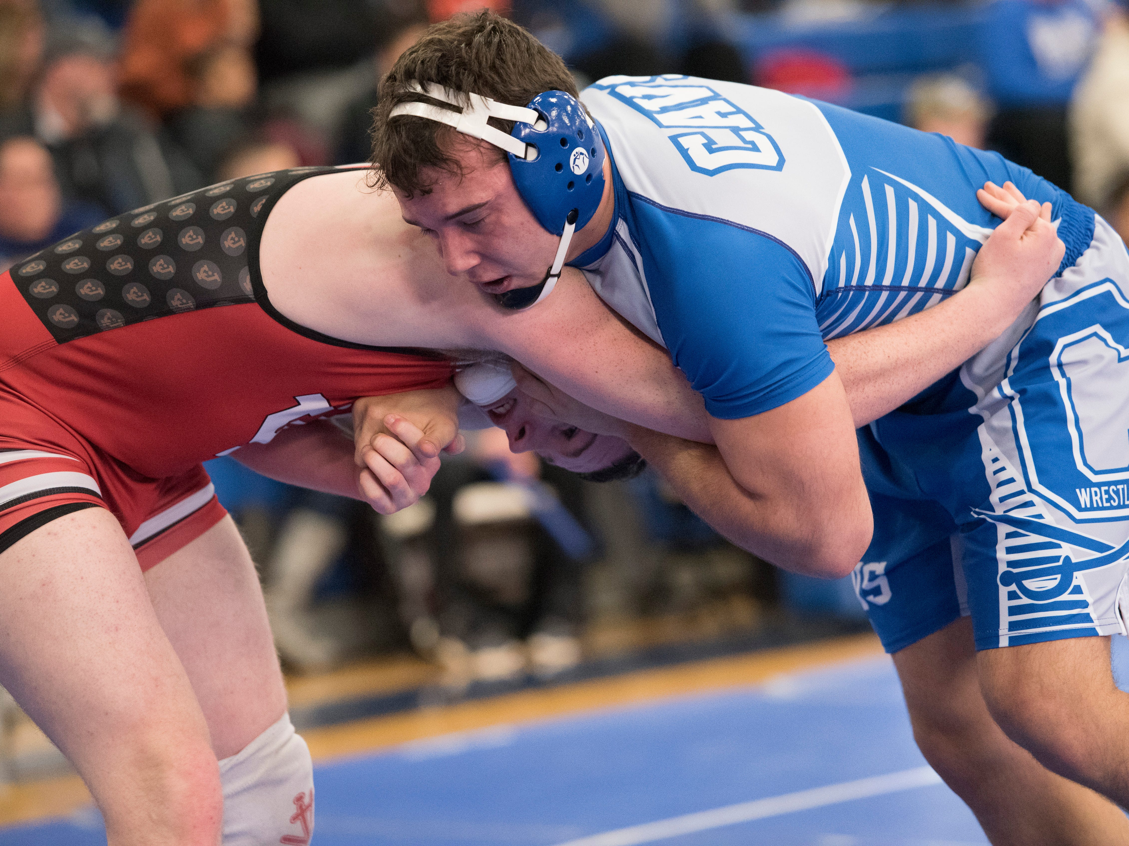 The Chillicothe Cavalier wrestlers finished in the 2019 FAC Wrestling Championships on Saturday, February 9, 2019, with senior Nick Erslan taking first place in the 195-pound weight class and Caleb Lake taking second in the 126-pound weight class.