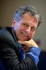 Senator Sherrod Brown speaks during a roundtable with caregiving professionals at Lakes Region Child Care in Laconia, N.H. Saturday, February 9, 2019.