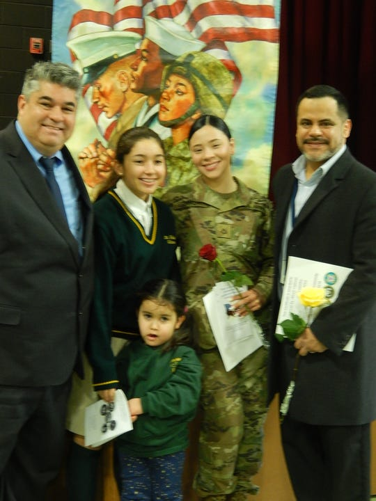 Luiso DeLaHoz (Mariana's father) Mariana DeLaHoz, Selena Estrada, presently serving in the Army in Missouri, Alexis Cabezas, a former Marine and Emilia DeLaHoz, MAriana's little sister in PreK.