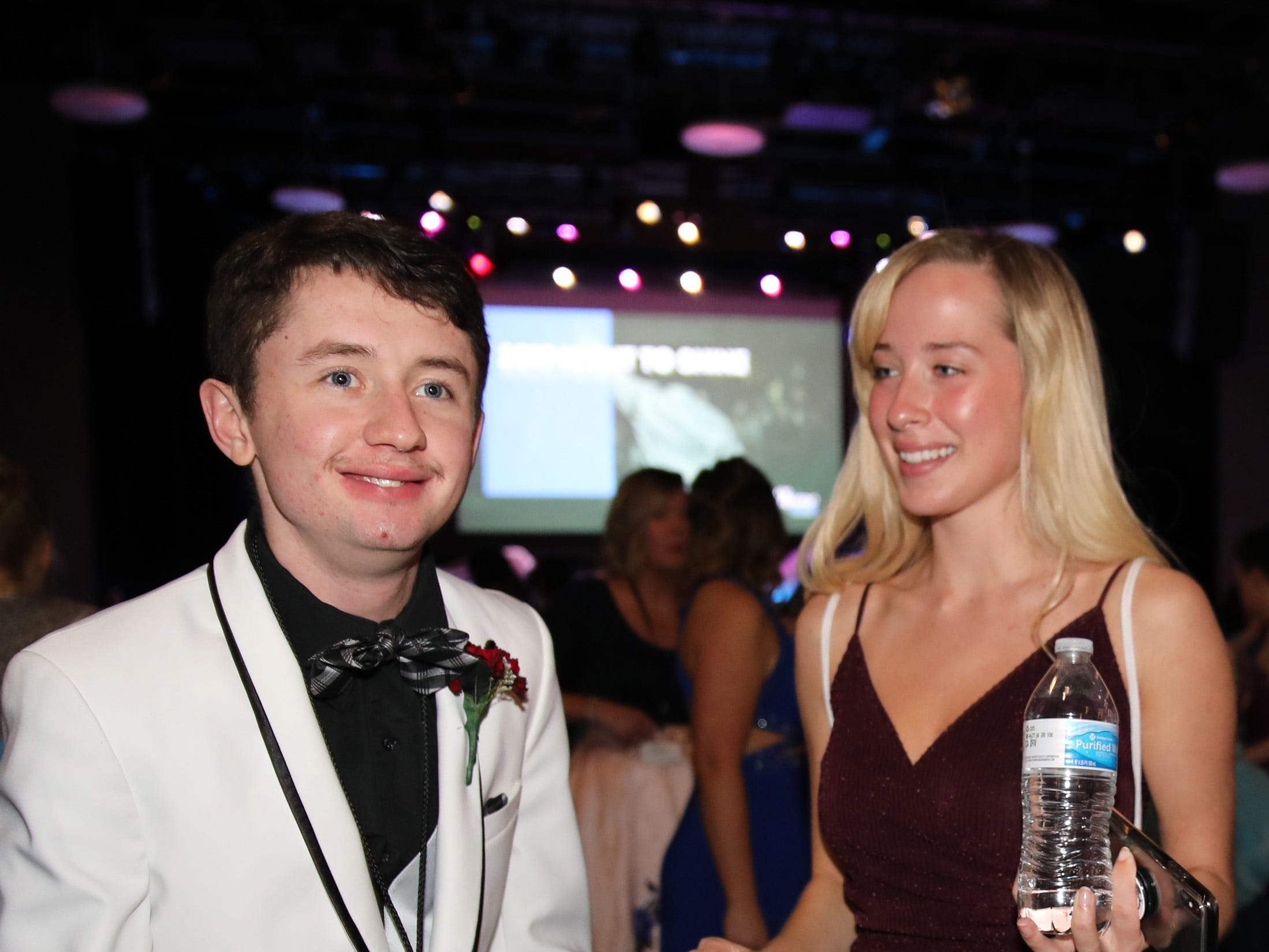 Will Obranovic and Madi Day dance during the Night to Shine event at Prairie Ridge Church in Ankeny on Friday, Feb. 8, 2019. Sponsored by the Tim Tebow Foundation, the event for adults with special needs features a prom-like atmosphere with dancing, limo rides, food and more.