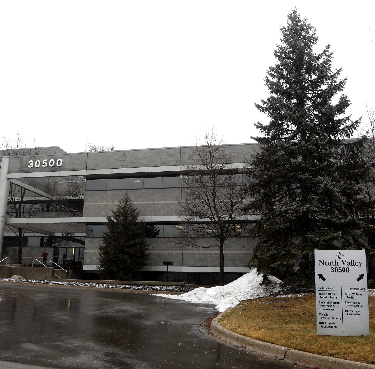 The building that was used as the fake Farmington University campus by the federal government seen on Thursday, February 7, 2019, in Farmington Hills, Michigan.