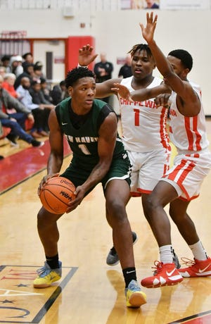 Romeo Weems had 34 points, 12 rebounds, 10 steals and 10 blocks to help New Haven (19-1) to a 74-58 victory over Detroit Edison. Weems also had five assists.