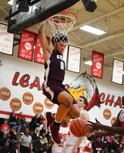 """Daniel Friday has been """"a man amongst boys"""" for U-D Jesuit, according to his coach, Pat Donnelly."""