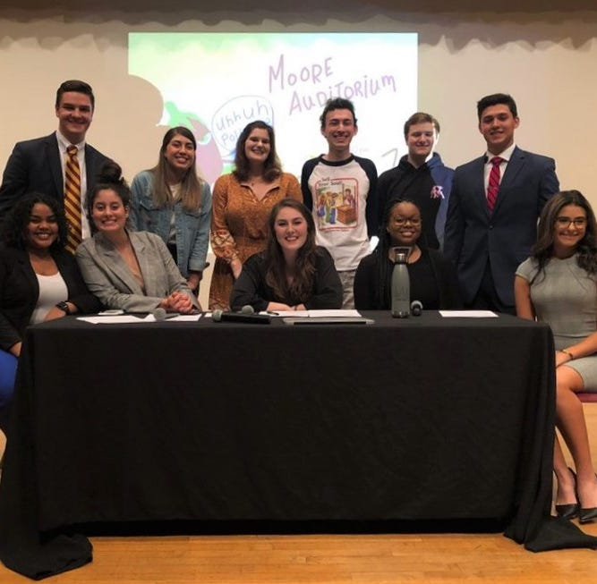 The Eggplant FSU hosts satirical debate ahead of SGA elections