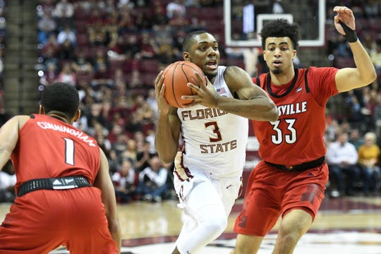 Florida State junior guard Trent Forrest scored 15 points and grabbed five steals during the Seminoles 80-75 victory over Louisville on Saturday at the Tucker Center.