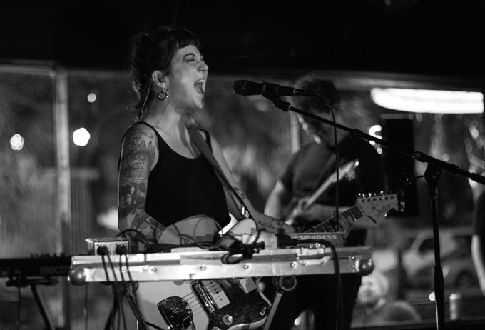 The Crowd for Japanese Breakfast was densely packed at the Wilbury on Thursday night.