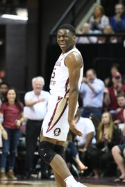 Florida State redshirt sophomore forward Mfiondu Kabengele scored 22 points during the Seminoles 80-75 victory over Louisville.