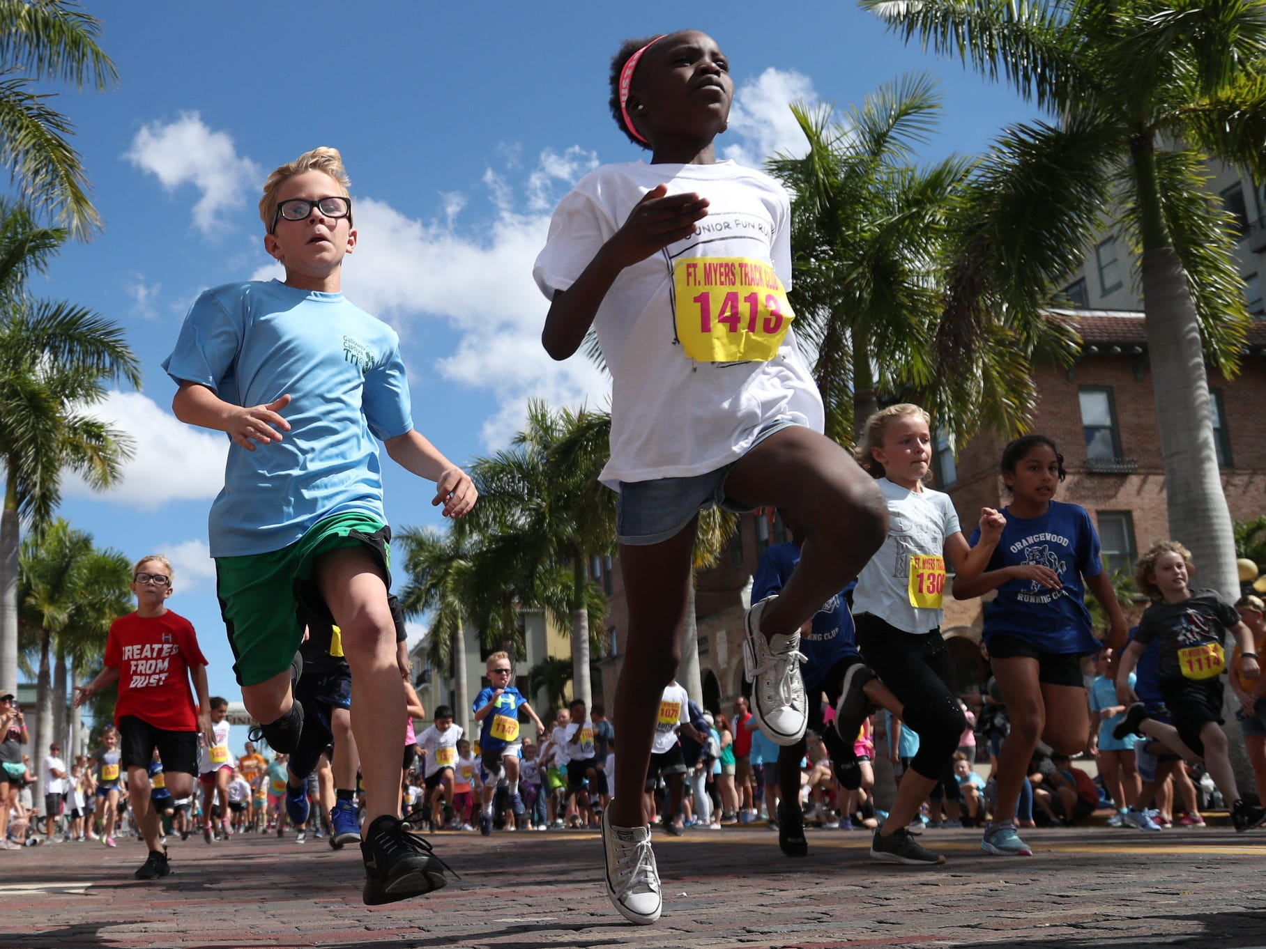 More than 300 kids raced in the Edison Festival of Light Junior Fun Run races on Sunday in downtown Fort Myers.