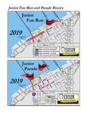 Junior Fun Run and Junior Parade routes