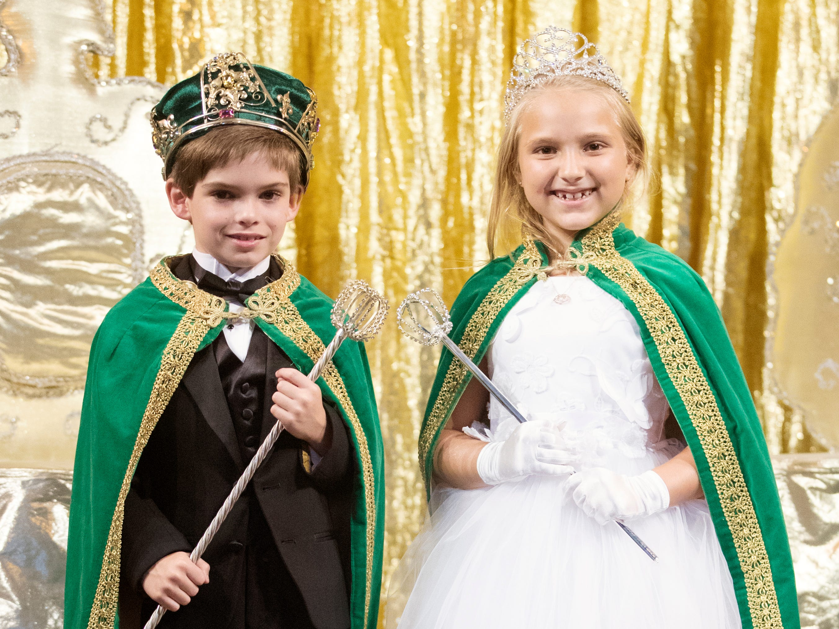 Andrew Mitchell Bechdel and Annabell Olivia VanHorn were named king and queen at the Edison Festival of Light Junior Coronation on Sunday at the Sydney and Berne Davis Art Center in downtown Fort Myers.