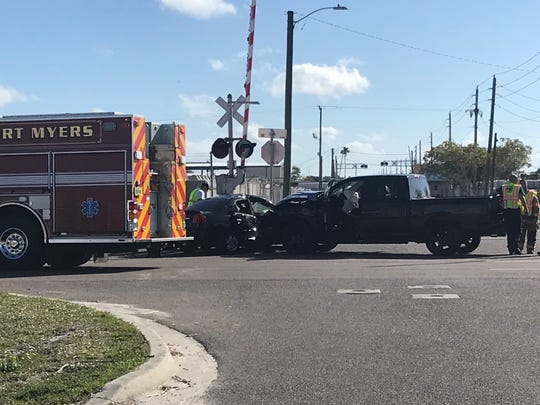 A two-vehicle crash on Evans Avenue at South Street shortly before 9:30 a.m. Sunday sent several people to the hospital.
