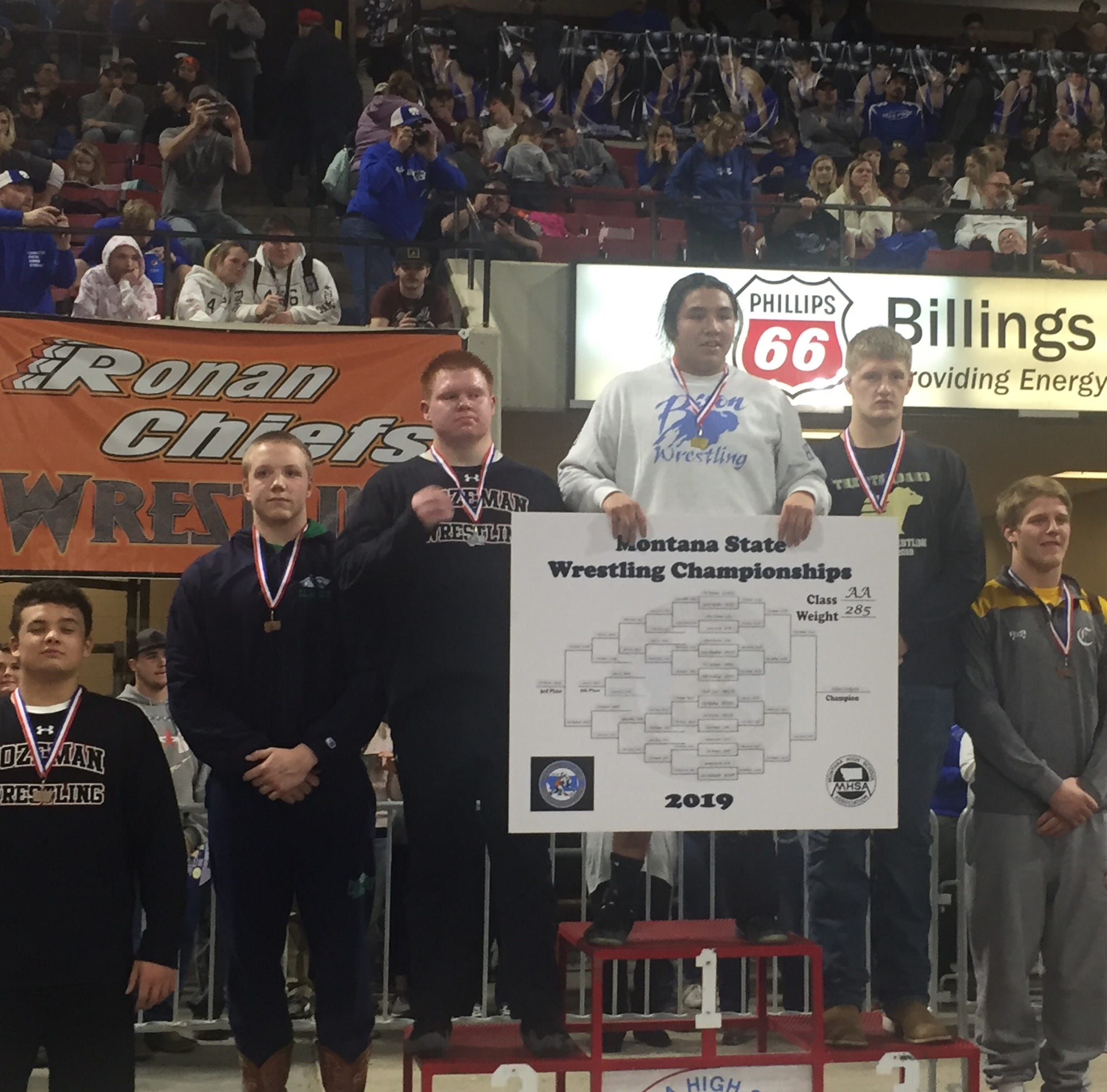 State Wrestling: Bison snag second behind two titles; CMR's Martello breaks through