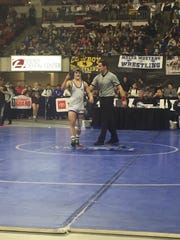 Lewistown's Cooper Birdwell won his second Class A state wrestling title Saturday at the Billings Metra.