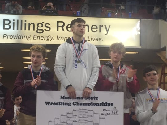 Havre's Martin Wilkie won his fourth Class A state wrestling title Saturday at the Billings Metra.