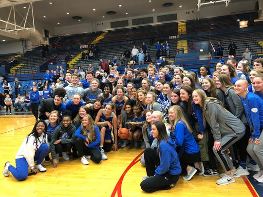 Hamilton Southeastern celebrates its win over Homestead