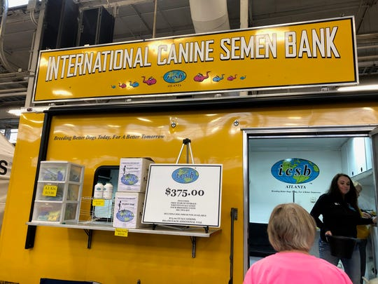 The International Canine Semen Bank at the Indy Winter Classic Dog Show at the Indiana State Fairgrounds.