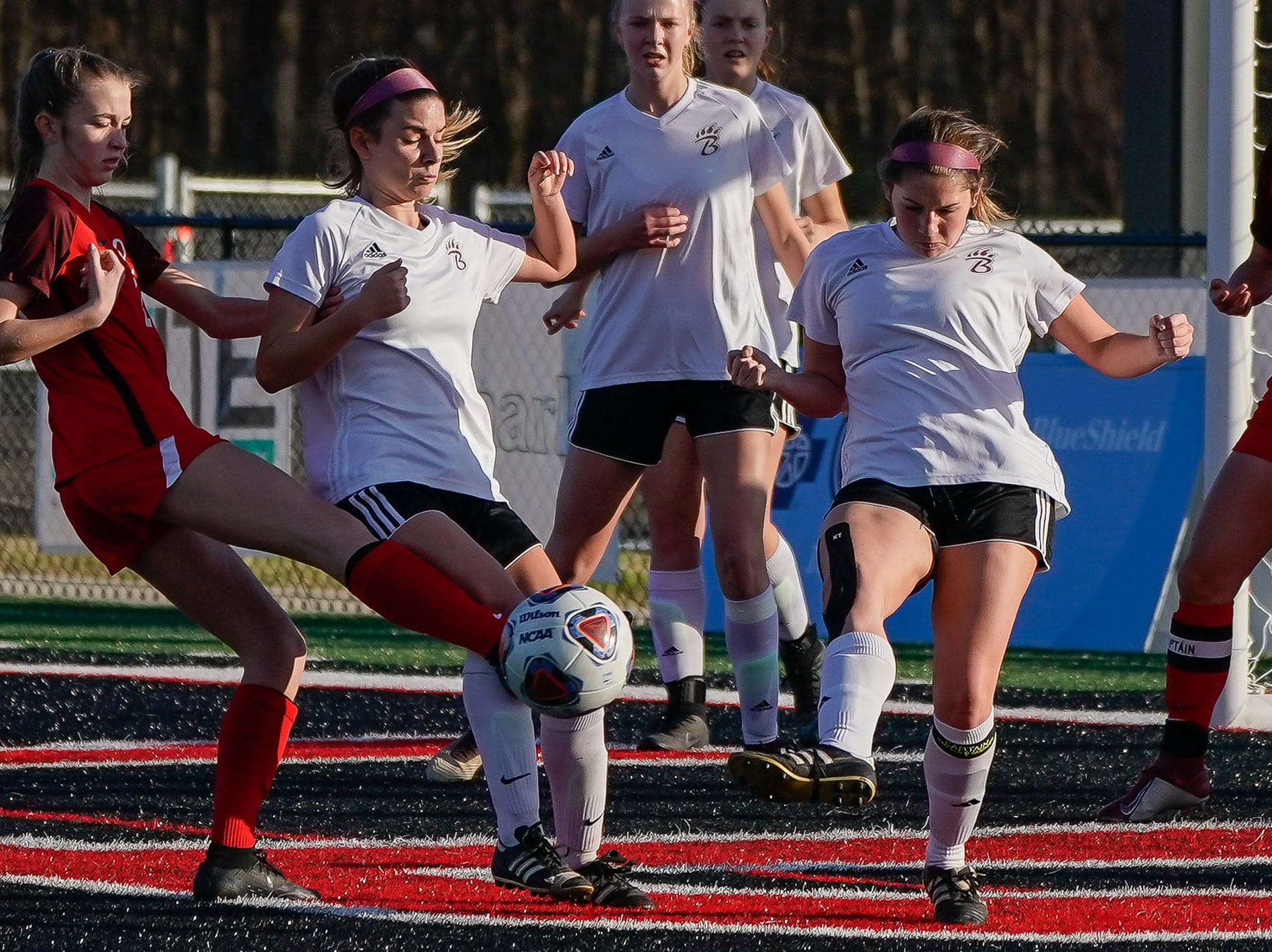 Lafayette against Long Beach during the MHSAA 5A Girls Soccer Championships held at Brandon High School in Brandon, MS, Saturday February 9, 2019.(Bob Smith-For The Clarion Ledger)