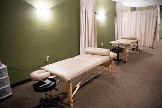 A photo of the body work room at the Tennessee School of Therapeutic Massage in Knoxville Friday, Feb. 8, 2019. State Rep. Martin Daniel has proposed a bill to do away with the board that licenses massage therapists.