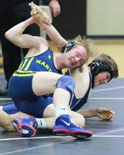 Kyle Kantola of Hartland stayed unbeaten with three pins in individual districts.