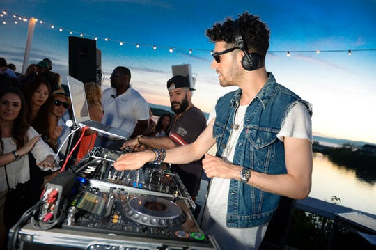 Music duo Chromeo performs at The Surf Lodge on Saturday, July 4, 2015, in Montauk, NY. (Photo by Scott Roth/Invision/AP)