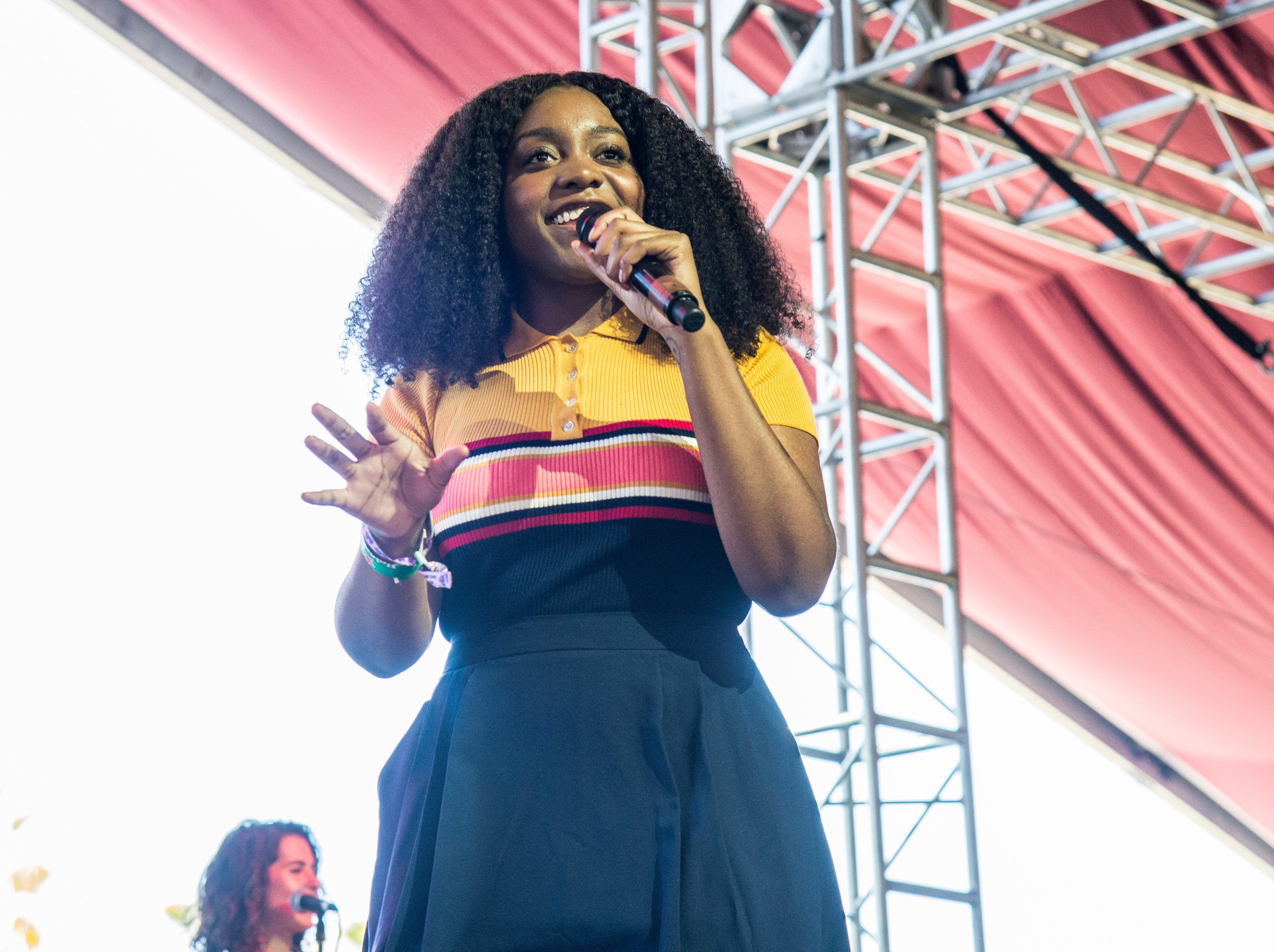 Noname performs at the Coachella Music & Arts Festival at the Empire Polo Club on Sunday, April 22, 2018, in Indio, Calif. (Photo by Amy Harris/Invision/AP)