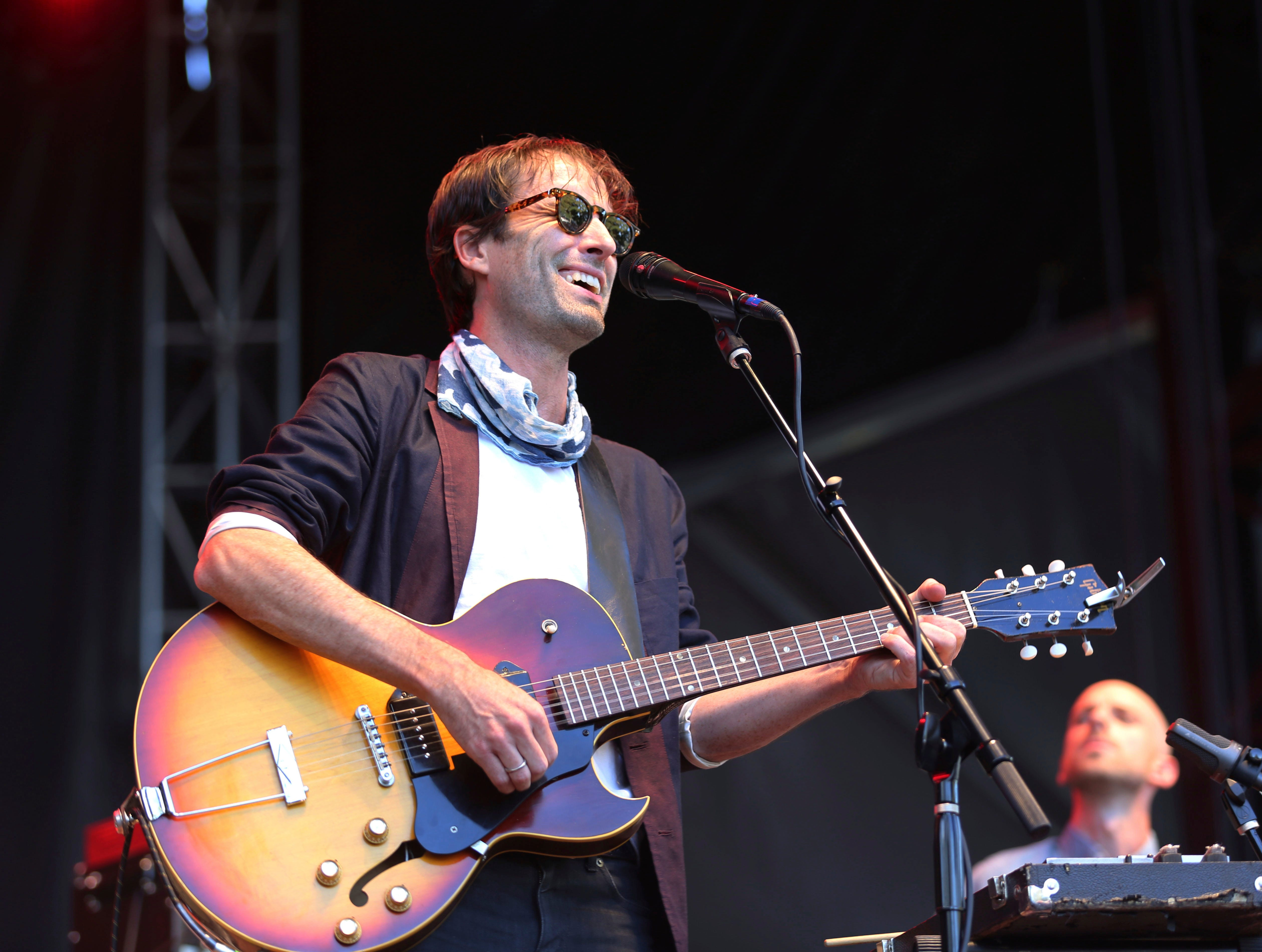 Andrew Bird performs on day two of the inaugural 2017 Arroyo Seco Music Festival on Sunday, June 25, 2017, in Pasadena, Calif. (Photo by Joseph Longo/Invision/AP)
