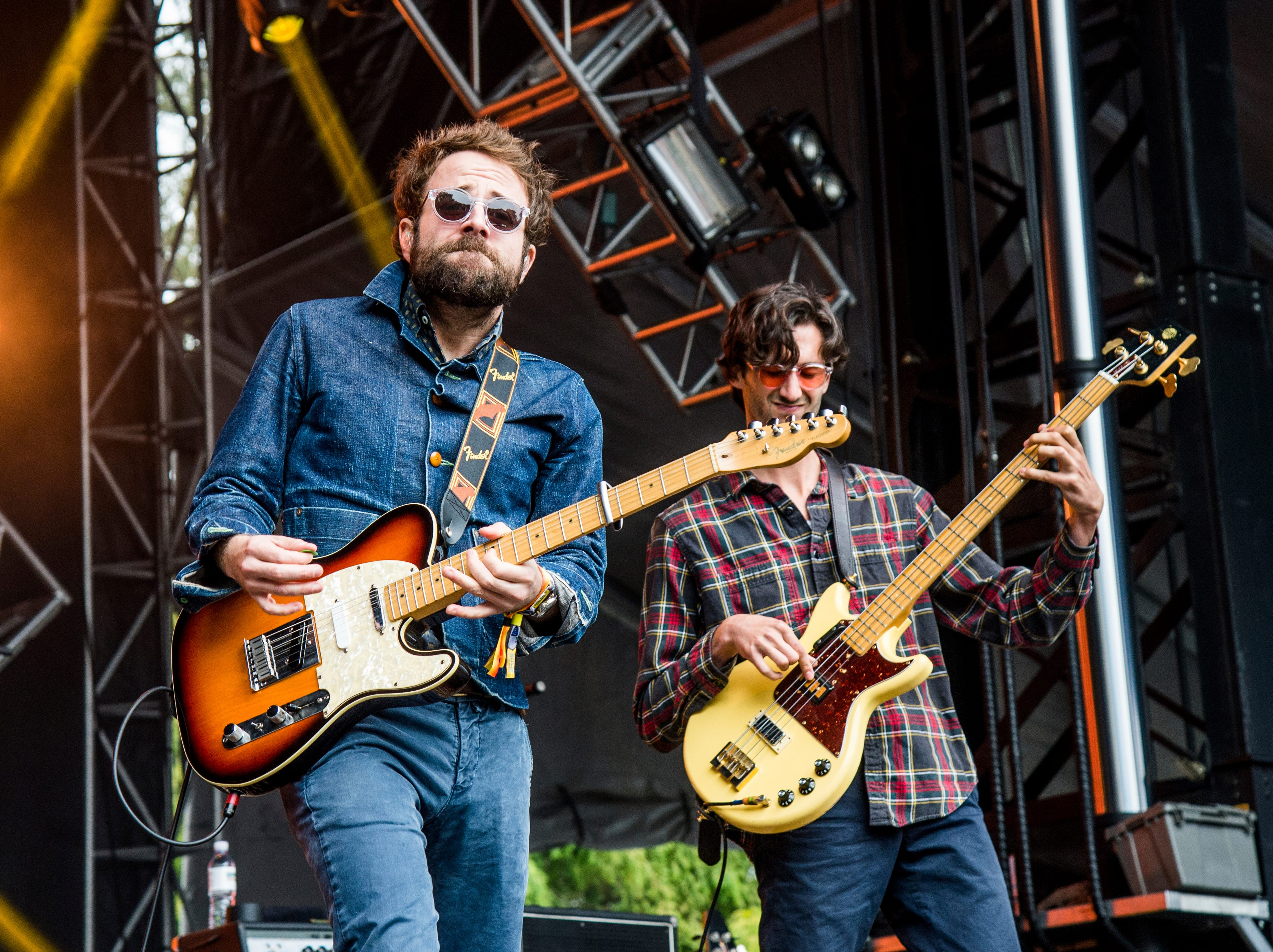 Taylor Goldsmith, left, and Wylie Gelber of Dawes performs at the 2017 Outside Lands Music Festival at Golden Gate Park on Saturday, Aug. 12, 2017, in San Francisco, Calif.(Photo by Amy Harris/Invision/AP)