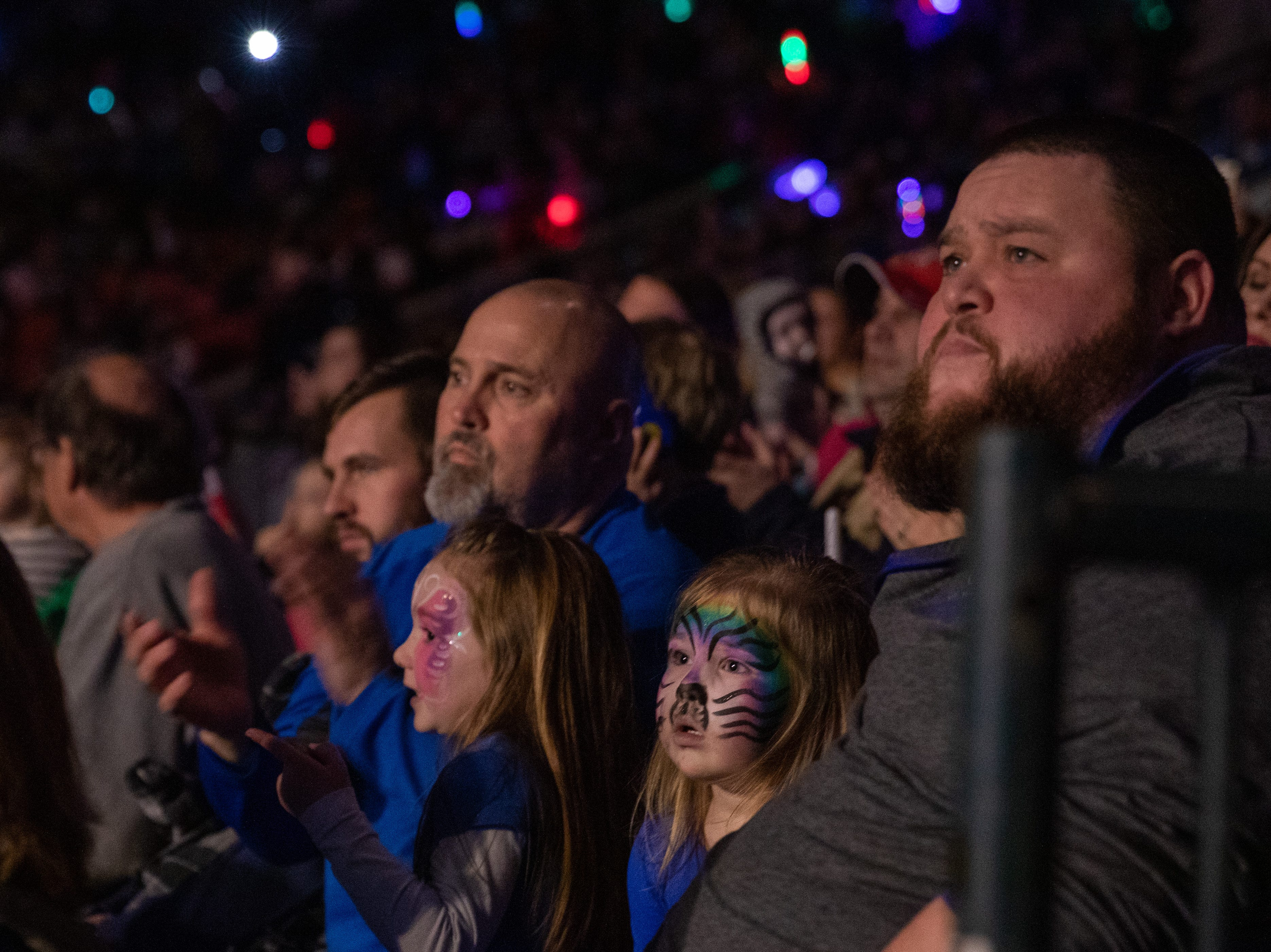 All eyes are glued on the circus performers, Saturday, Feb. 9, 2019 in Louisville Ky.
