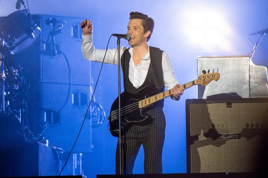 Brandon Flowers of The Killers performs at the Bottle Rock Napa Valley Music Festival at Napa Valley Expo on May 26, 2018, in Napa, Calif. (Photo by Amy Harris/Invision/AP)