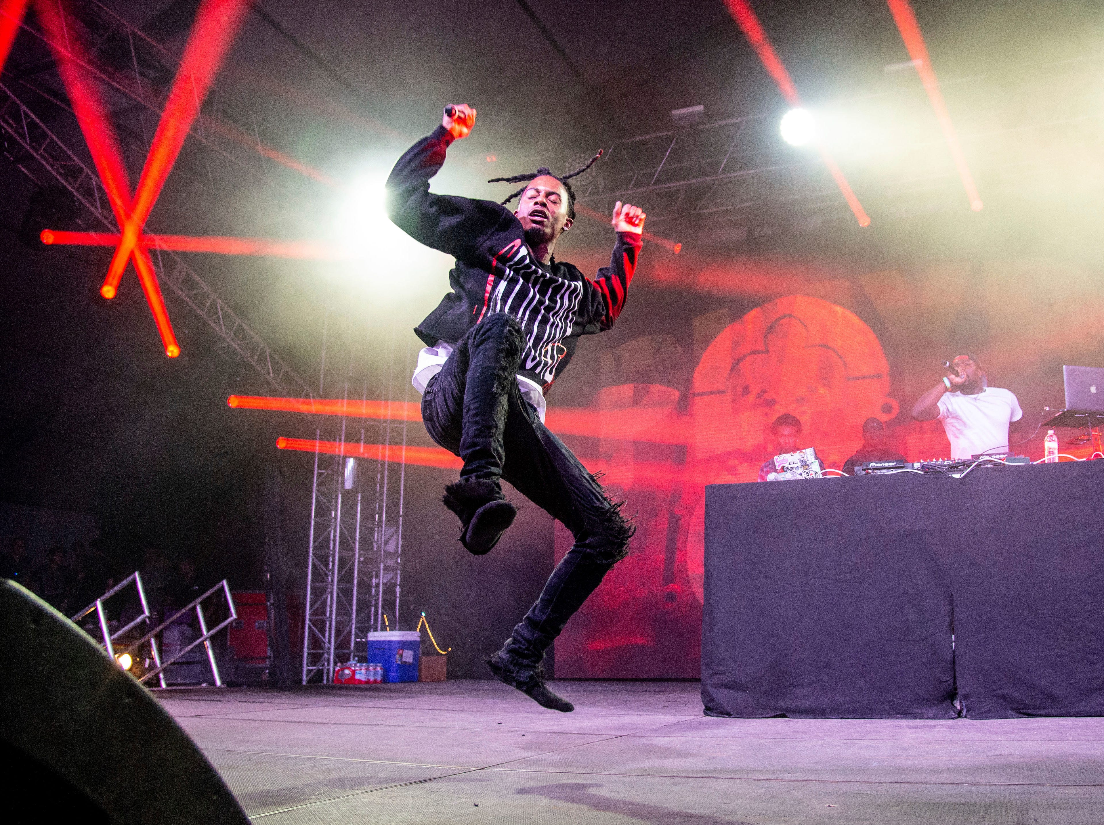 Playboi Carti performs at the Bonnaroo Music and Arts Festival on Friday, June 8, 2018, in Manchester, Tenn. (Photo by Amy Harris/Invision/AP)