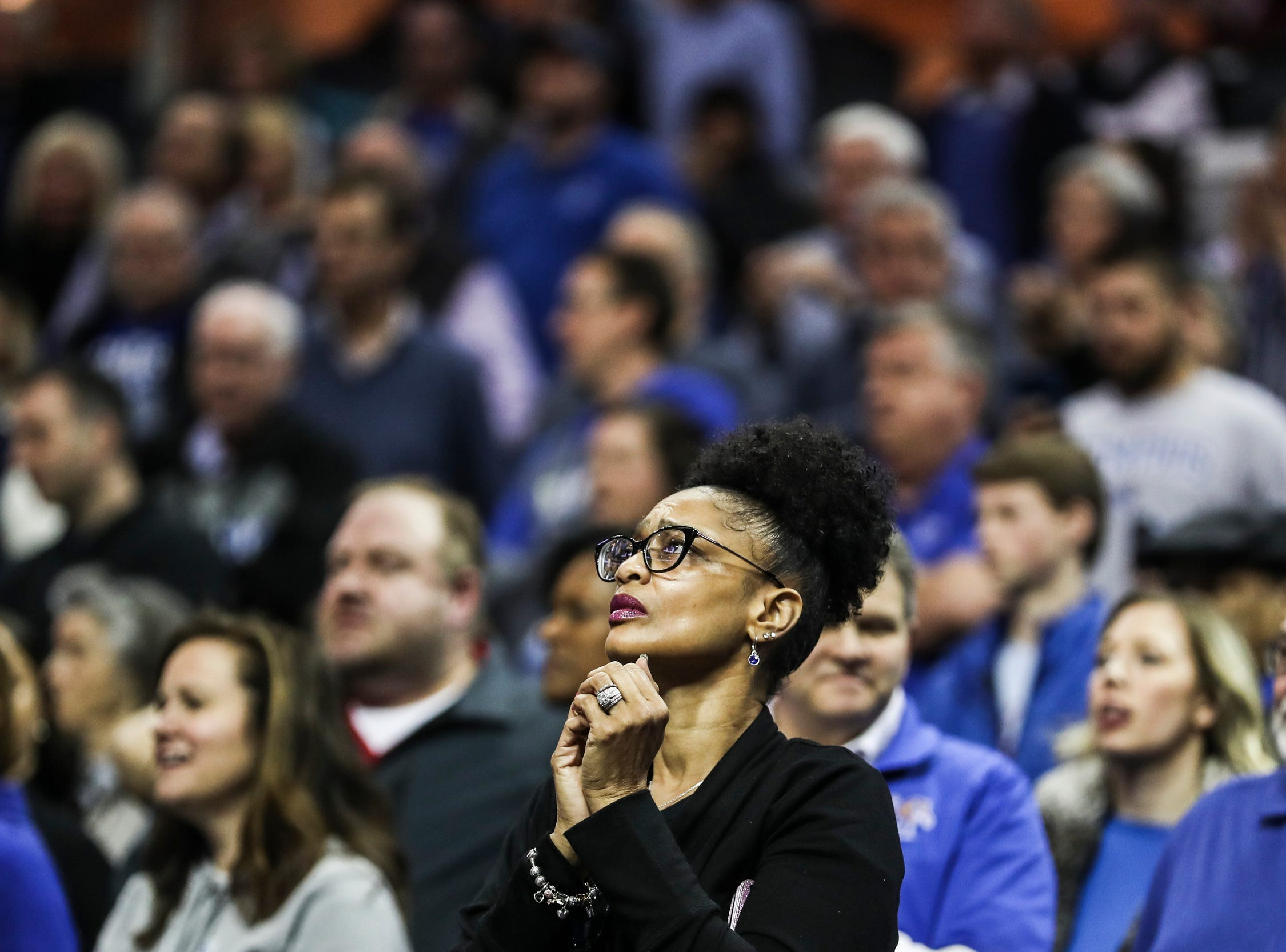 February 10, 2019 - A fan watches the final minutes of Sunday's game versus Connecticut at the FedExForum.