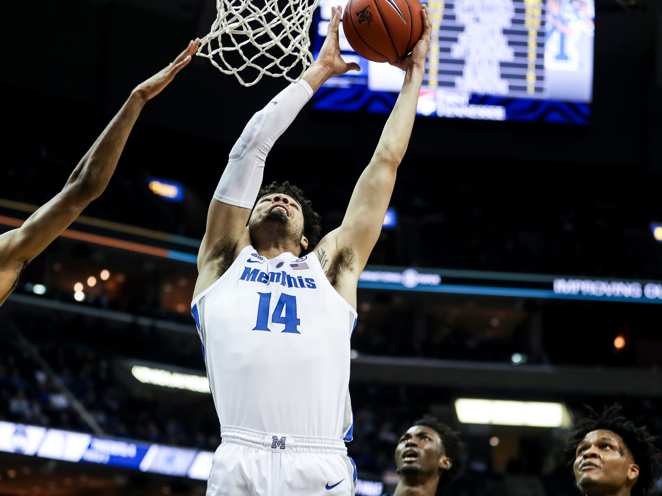 February 10, 2019 - Memphis' Isaiah Maurice attempts a shot during Sunday's game versus Connecticut at the FedExForum.