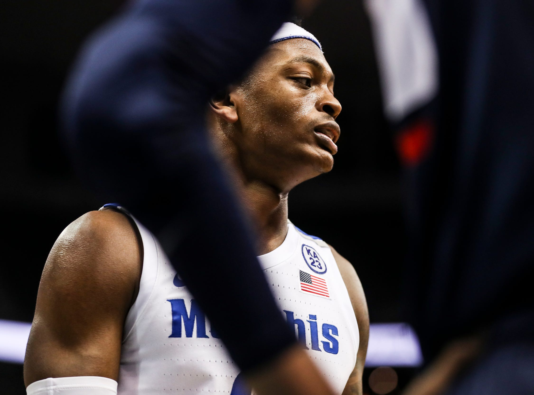 February 10, 2019 - Memphis' Kyvon Davenport is seen during Sunday's game versus Connecticut at the FedExForum.