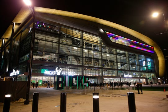 Fiserv Forum before the Milwaukee Bucks game on Saturday, Feb. 9, 2019. Photo by Mike De Sisti / Milwaukee Journal Sentinel