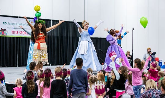 A singalong with the Fairytale Birthday Company Princesses is just part of the fun at the Milwaukee Kids Expo Saturday and Sunday at State Fair Park.