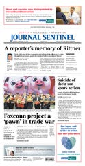 Milwaukee Journal Sentinel front page for Feb. 10, 2019