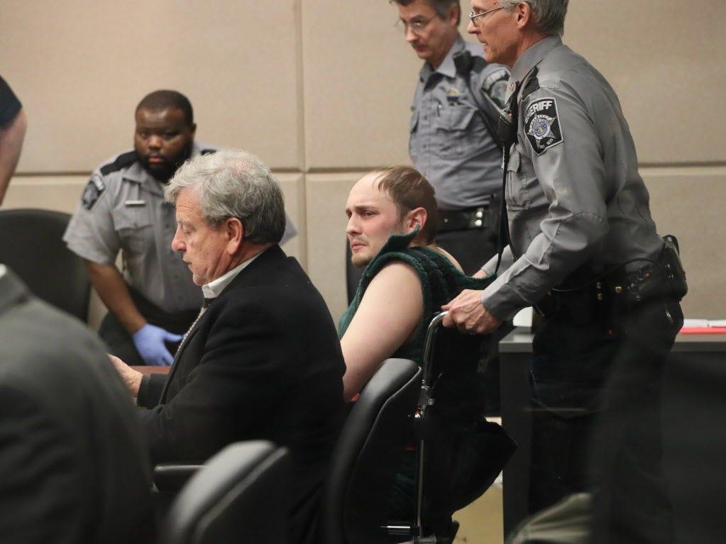 Jordan P. Fricke appears in intake court  with attorney Michael Chernin.