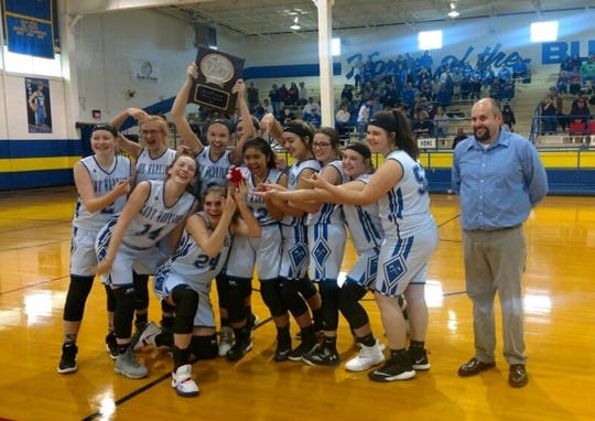 The Cotter Junior Lady Warriors defeated Flippin to win the 2A-1 Junior District championship on Saturday at Decatur.
