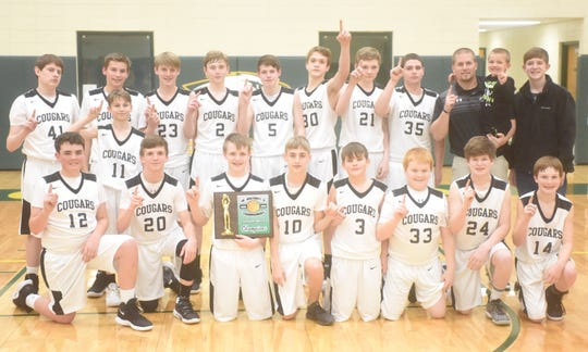 The 2018-19 Izard County Junior Cougars won the 1A-2 District championship on Saturday.